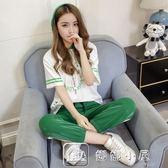 運動套女夏新款時尚韓版寬鬆原宿風學生休閒套兩件套女潮 瑪麗蓮安