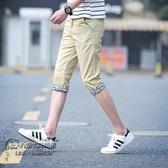 夏季 天男士休閒短褲潮流韓版薄款5分五分中褲7分褲七分沙灘馬褲 雙11低至8折