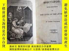 二手書博民逛書店觀察者罕見1807年版 The Spectator: 2本,Wi