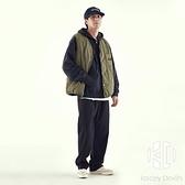 秋冬日系復古寬鬆夾棉工裝馬甲男女情侶菱形格外套【Kacey Devlin】