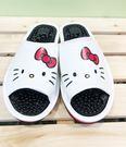 【震撼精品百貨】Hello Kitty 凱蒂貓~台灣製正版成人按摩拖鞋-大臉白色(23~25號)#18151