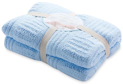 奇哥~立體格紋柔舒毯(大) / 嬰兒被 (藍色) 790元+贈奇哥紙袋