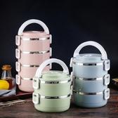 「新品特惠」304不銹鋼飯盒圓形多層保溫桶成人學生便當盒帶蓋韓國餐盒食堂