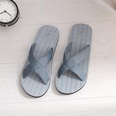 【333 家居鞋館】日系慵懶 簡約休閒拖鞋-藍