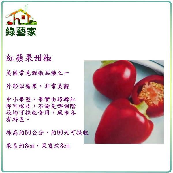 【綠藝家】G44.紅蘋果甜椒(美國進口)種子3顆