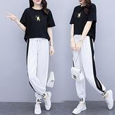 印花兩件套 XL-5XL 夏裝新款大碼女裝胖mm寬松顯瘦印花休閑套裝2986 4F088 依品國際