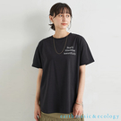 「Summer」Being blooming標語打印短袖T恤 - earth music&ecology
