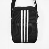 adidas 斜背包 Pltora 黑 白 男女款 休閒 側背包 背包 三條線 【PUMP306】 S02196