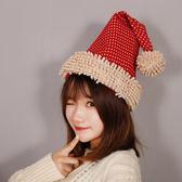 圣誕帽網紅主播ins圣誕節裝飾品高檔成人加厚加絨圣誕帽子男女【非凡】