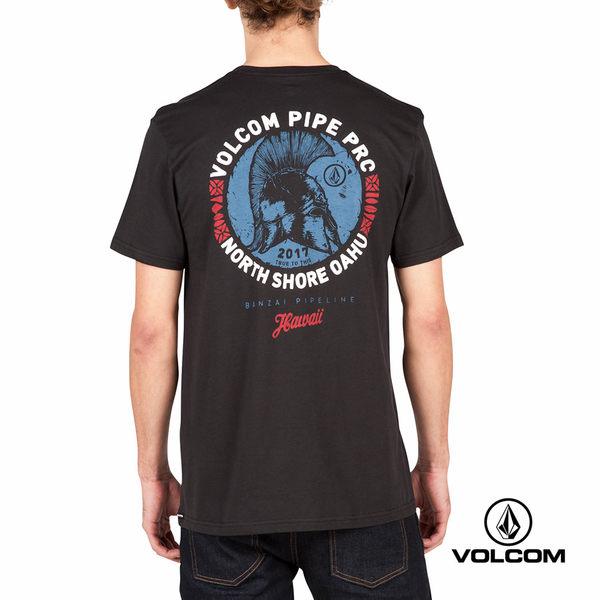 VOLCOM PIPE PRO 公益聯名款 Modern fit 短袖T-Shirt-黑