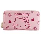 小禮堂 Hello Kitty 皮質拉鍊...