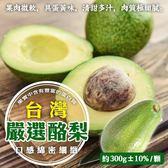 【果之蔬】台灣酪梨X1箱(1斤±10%/箱)