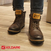 【Kildare 促銷85折】Kildare 巴西 中高筒綁帶休閒男靴 深咖啡 男