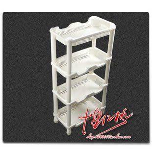 【收納存儲】高品質四層小方印花置物架