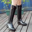 韓版時尚雨鞋女高筒春夏防滑雨靴女 成人防水鞋女長筒平底水靴膠 每日下殺NMS
