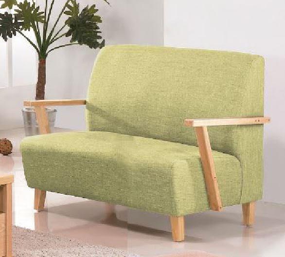 【森可家居】維也納本色綠皮雙人沙發 7JF173-2 無印北歐風