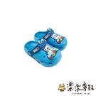 【樂樂童鞋】巴布豆卡通圖案布希鞋-天藍 C064 - 現貨 女童鞋 男童鞋 涼鞋 兒童涼鞋 小童涼鞋