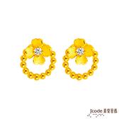 J'code真愛密碼 真愛-簡單的幸福黃金耳環