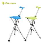 Ta-Da TaDa 泰達自動手杖椅 綠色 藍色 拐杖椅 折疊椅 座杖 登山杖 健走 戶外椅 手杖椅 80KG