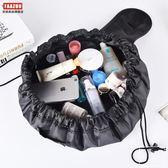 【巨能裝】韓國懶人抽繩化妝包大容量vely vely便攜旅行洗漱包 限時八八折最後三天