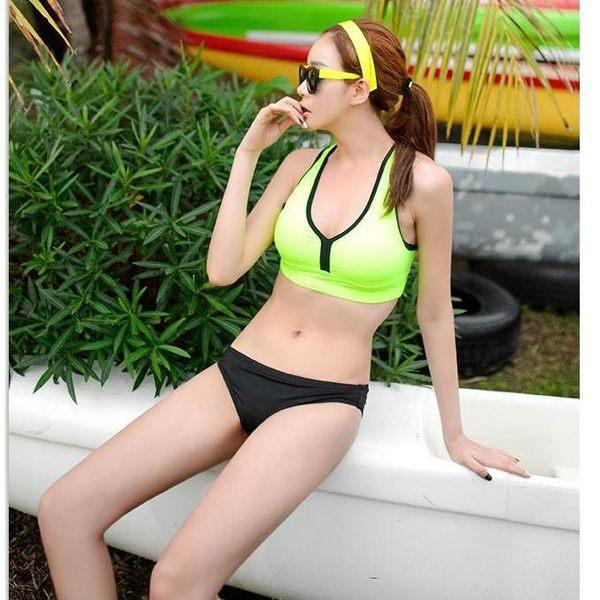 比基尼 je bikini 運動風螢光小可愛兩件式 泳衣泳裝比基尼 【217j】