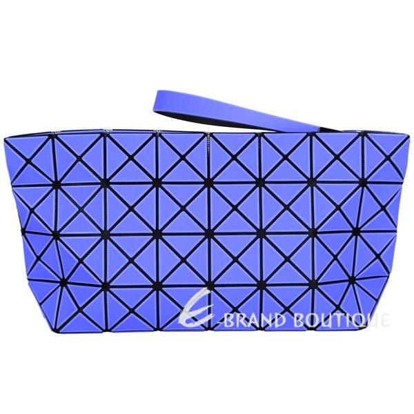 三宅一生BAO BAO ISSEY MIYAKE PRISM-2 4x8藍紫霧面大型手拿包 1620534-23