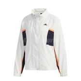 adidas 外套 W.N.D. Jacket 白 藍 女款 風衣外套 張鈞甯款 運動休閒 【PUMP306】 FM5275