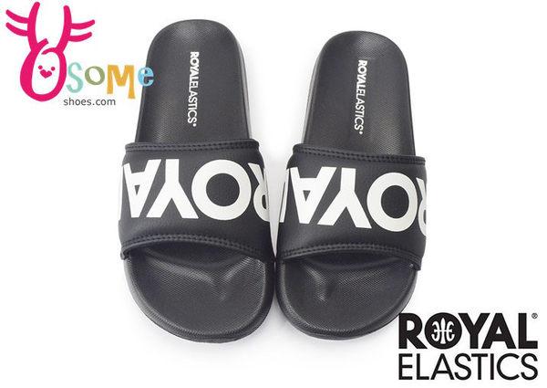Royal Elastics運動拖鞋 男/女 黑底白字 輕量 防水拖鞋H5609#黑白◆OSOME奧森童鞋/小朋友