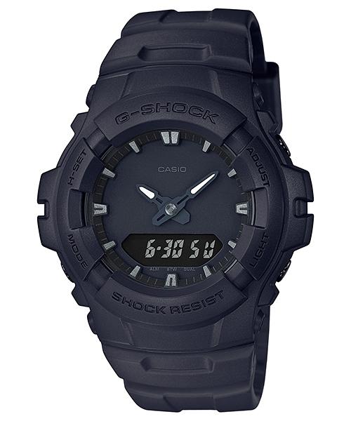 【時間光廊】CASIO 卡西歐 G-SHOCK 雙顯 防水200米 霧黑 全新原廠公司貨 G-100BB-1A