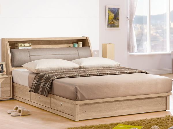 床架 QW-041-5A 多莉絲6尺雙人床 (床頭+床底)(不含床墊) 【大眾家居舘】