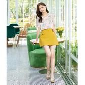 春夏7折[H2O]不對稱假一片裙設計顯瘦褲裙 - 黃/藍/白色 #0678004