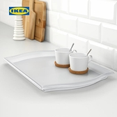 托盤 客廳廚房托盤簡約家用長方形盤子塑料盤