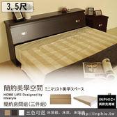 INPHIC 床頭箱床底床頭櫃3 5 尺三件式床組胡桃單人房間組單人床床架床頭片床台床架_g7vf