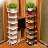 鞋架多層簡易現代簡約經濟型家用客廳省空間多功能收納鐵藝鞋柜子igo  歐韓流行館