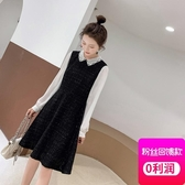 大尺碼洋裝 2胖妹妹mm氣質減齡洋氣大尺碼裙子 遮肚子連身裙 降價兩天