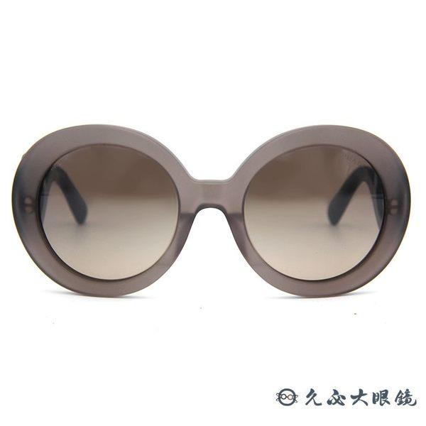 Prada 太陽眼鏡 摩登雲朵系列 復古 圓框 墨鏡 SPR27NA UBV-4P0 霧灰-黑 久必大眼鏡