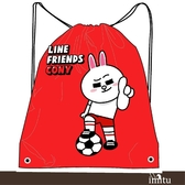 imitu  【LINE FRIENDS】MIT束口後背袋(橙_World Cup 世界盃足球運動款)