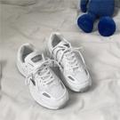 韓版原宿風冬季小白鞋反光ins學生休閒跑步鞋女街拍老爹鞋618大促銷