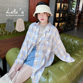 LULUS【A01200540】F自訂款寬鬆格紋襯衫2色