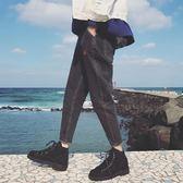 冬季哈倫牛仔褲男褲子寬鬆男士韓版潮流百搭修身青少年長褲原宿風 雲雨尚品