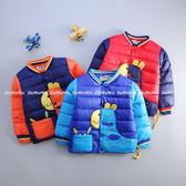 寶寶鋪棉保暖厚外套 繽紛長頸鹿仿羽絨防風夾克 YN14611 好娃娃