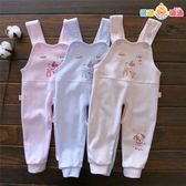 男女寶寶背帶褲開襠純棉嬰兒背帶秋褲兒童長