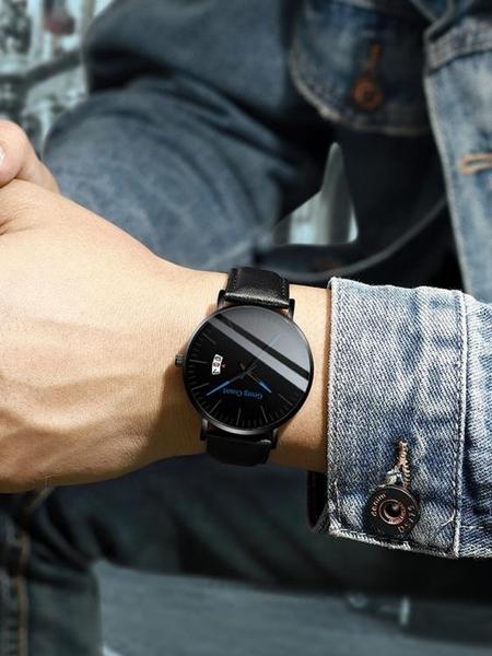 手錶男防水超薄新款蟲洞概念機械錶學生韓版簡約潮流休閒男士男錶  夏季新品