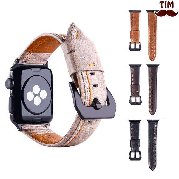 Apple Watch 3 2 1 三線車縫錶帶 38mm 42mm 皮質 皮革 蘋果錶帶 AppleWatch錶帶