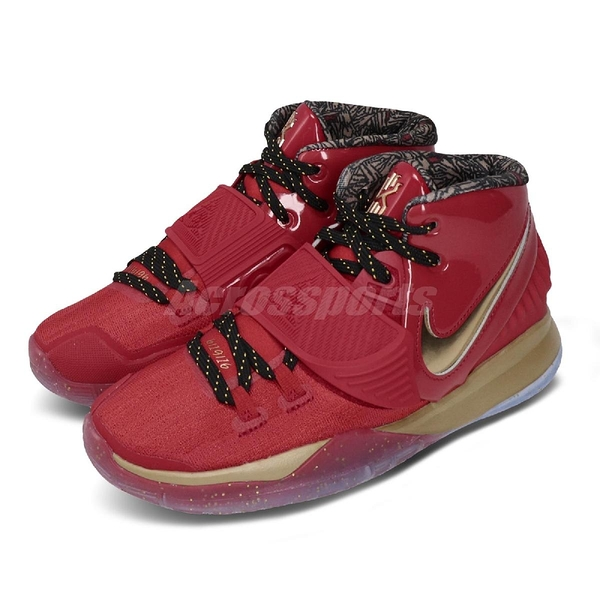 Nike 籃球鞋 Kyrie 6 GS 紅 金 明星賽 獎盃 大童鞋 女鞋 KI6 【ACS】 CD7020-901