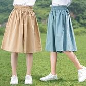女童褲 女童短褲夏季外穿五分褲子兒童裝中褲裙褲中大童夏裝2021新款褲裙【快速出貨】