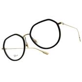 DIOR 光學眼鏡 STELLAIRE O9 2M2 (黑-金) 復古 造型款 圓框 鏡框 鏡架 # 金橘眼鏡