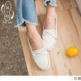 《SD0189》台灣製造.蝴蝶結綴飾質感仿皮革懶人鞋 OrangeBear