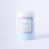 漾彩雙色4吋霧藍蠟燭-生活工場