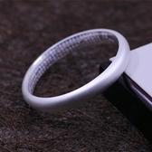 純銀手環(泰銀)-簡約磨砂內刻心經生日母親節禮物男女手鐲73na5【時尚巴黎】